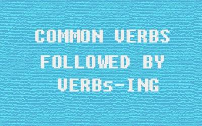 kata kerja diikuti verbIng