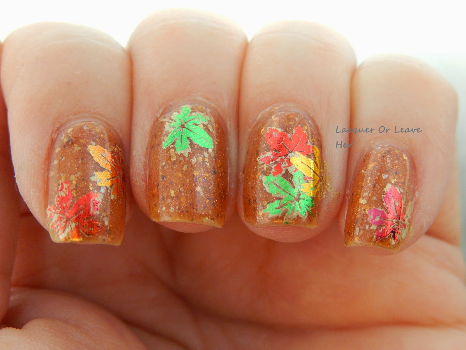 Fall foil leaves
