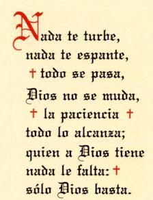 La oración de Santa Teresa