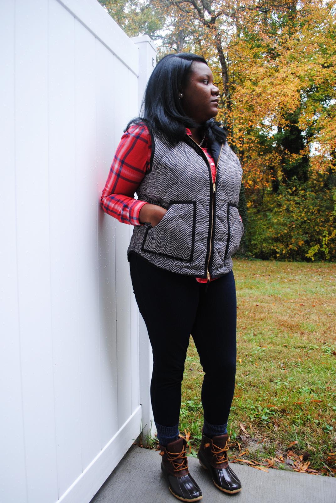 TRULY YOURS A. Plaid + Herringbone + Duck Boots