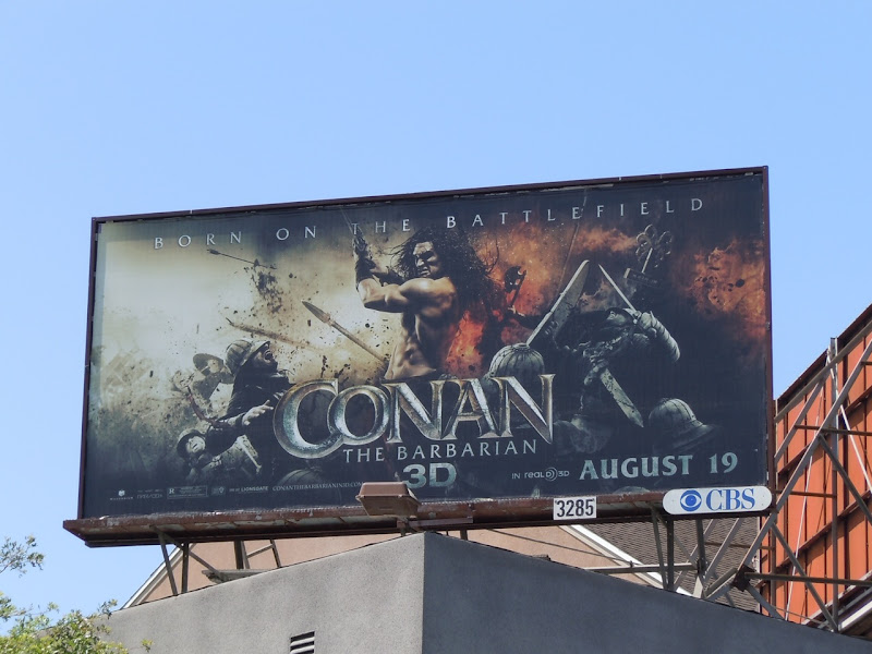 Conan the Barbarian 3D remake billboard