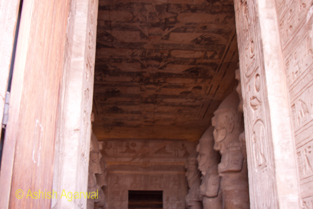 Gate and inner portion of the Abu Simbel temple in lower Egypt