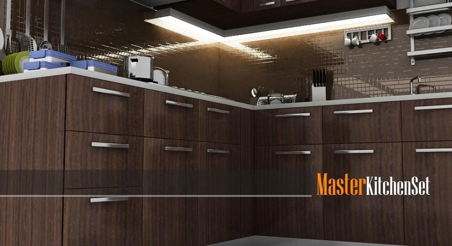 Kitchen set solo gallery blog master coklat 1b