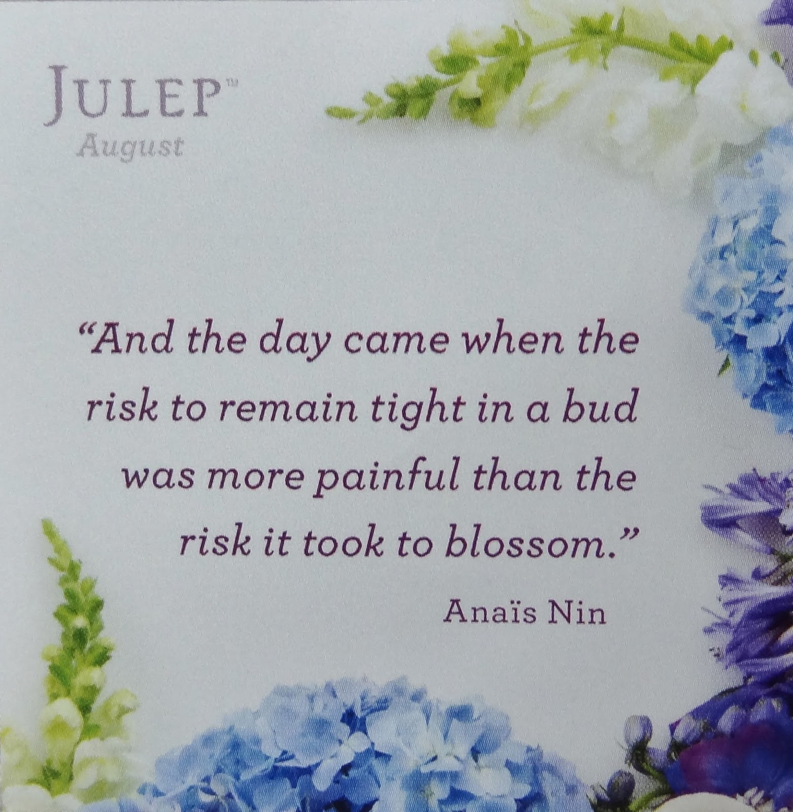 The month august