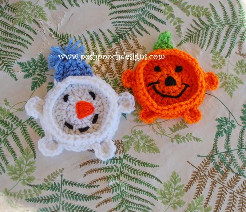 Posh Pooch Designs Dog Clothes: Pumpkin Coaster Crochet ...