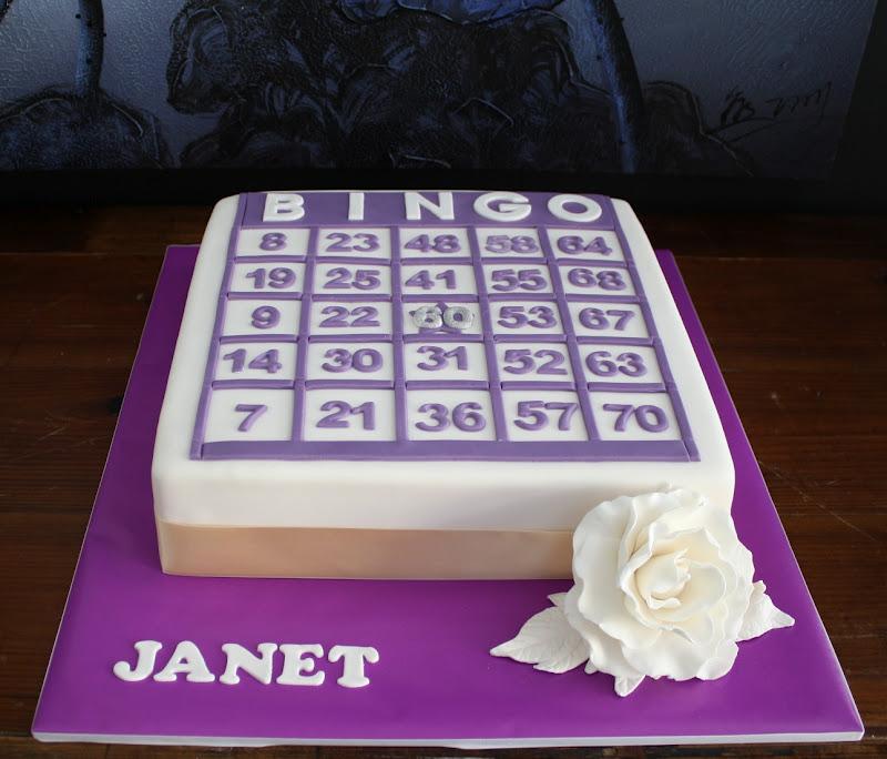 Sandys Cakes Janets Bingo Surprise 60th Birthday Cake