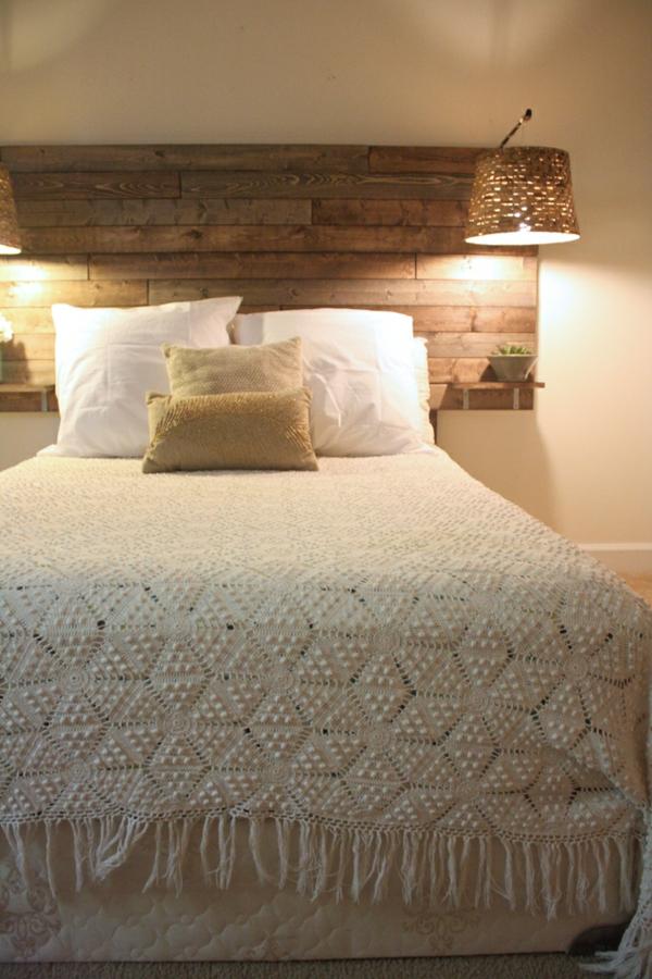 Cabeceros de cama en madera dormitorios con estilo - Cabecero de cama de madera ...