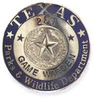 Texas Parks and Wildlife Warden Badge