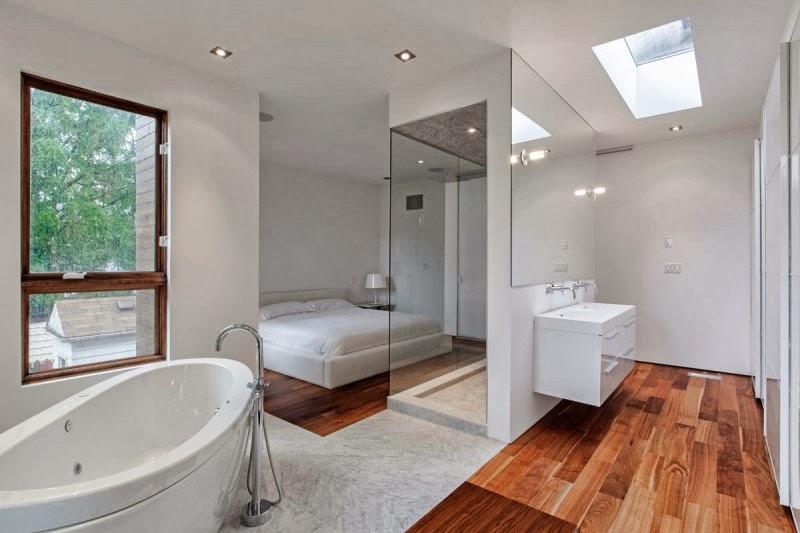 Puertas para ba o minimalista for Banos interiores para casa