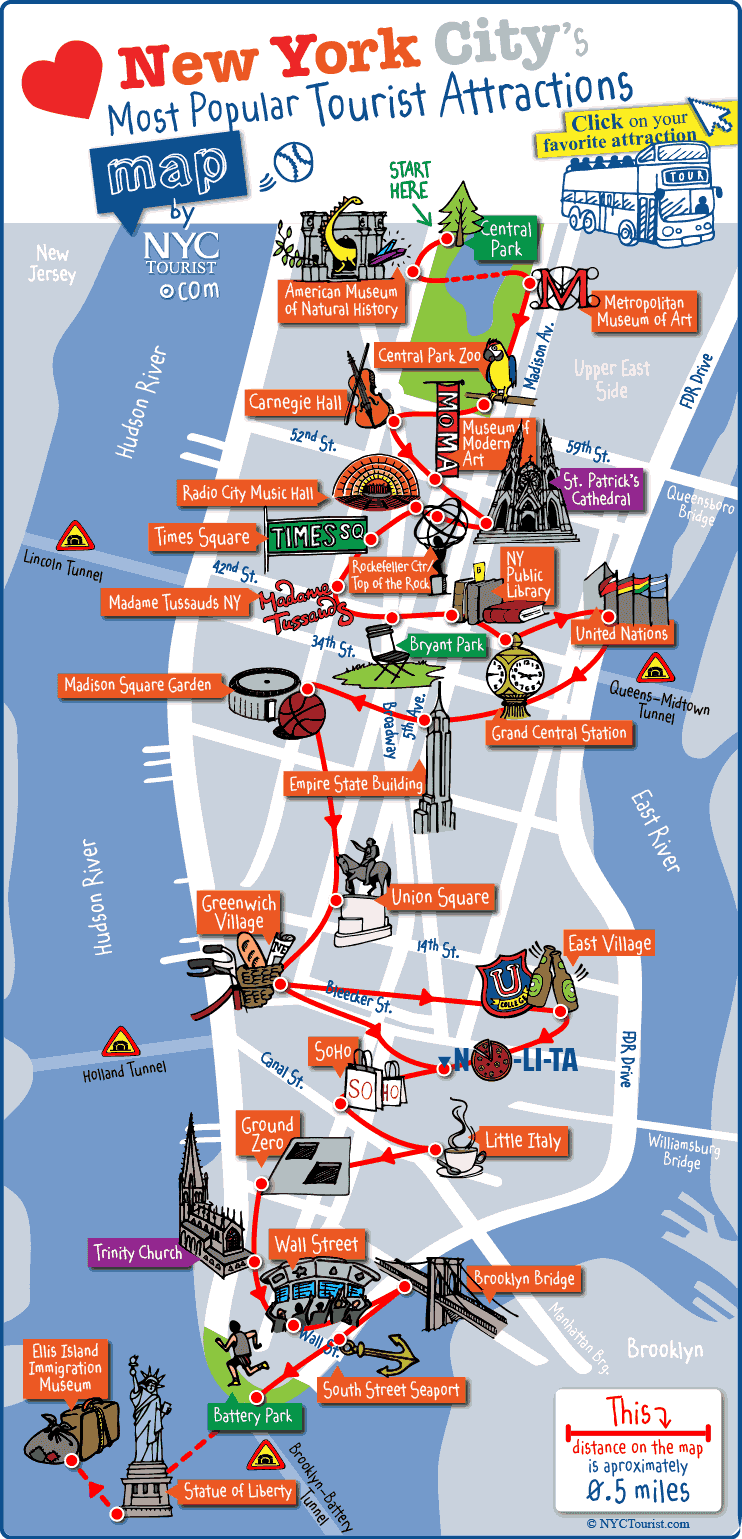 Most popular tourist attractions in NY