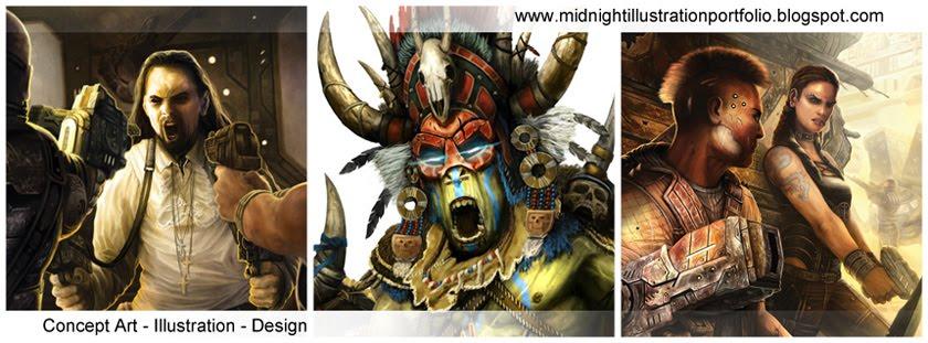 MidnightIllustration Portfolio - The Art of Sam Manley