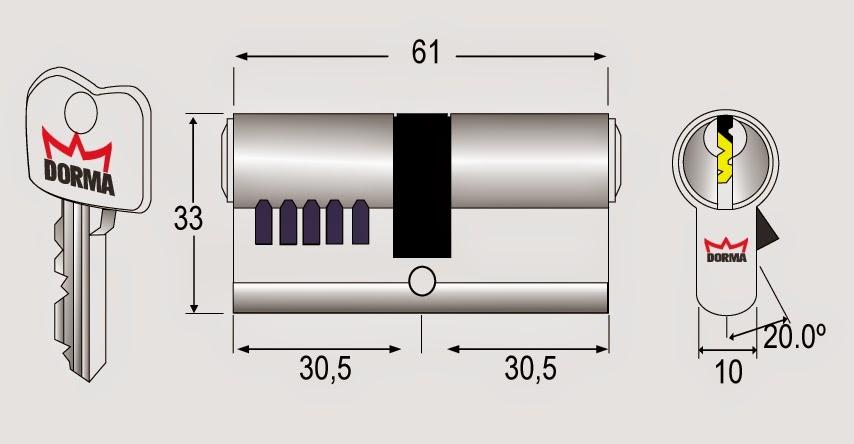Ổ khóa cửa thép PC 91 Dorma