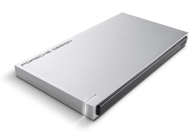 LaCie Porsche Slim Hard Drive . The breakneck speed of this slim, solid aluminum Porsche doesn't come from a turbo V-8, its impressive 400 MB/S transfer speed comes from a combination of USB 3.0 & optional Solid State Drive. The LaCie Porsche Slim Drive 500GB model features HDD, while the faster LaCie Porsche Slim Drive SSD comes in 120GB capacity.