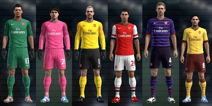 PES 2012 Arsenal 12 13 Kit Set by Cuky *Update*