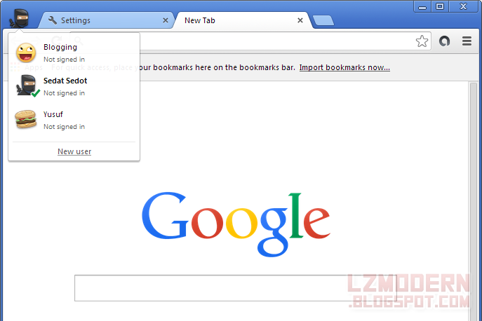 Cara Membuat dan Mengganti User Pada Google Chrome