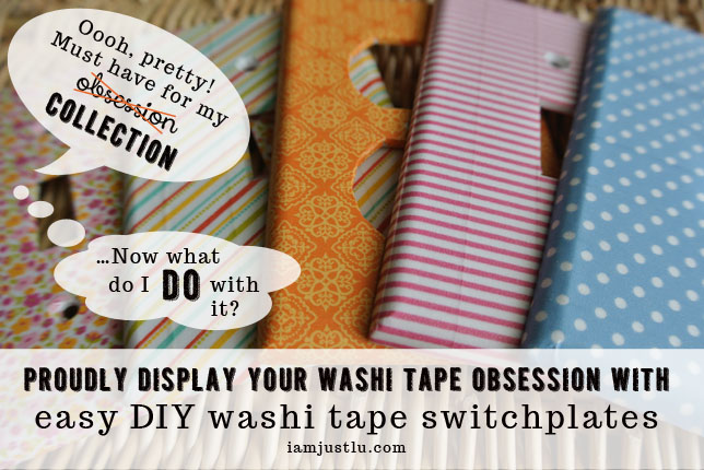 pretty washi tape switchplates and outlet covers - an easy washi tape craft