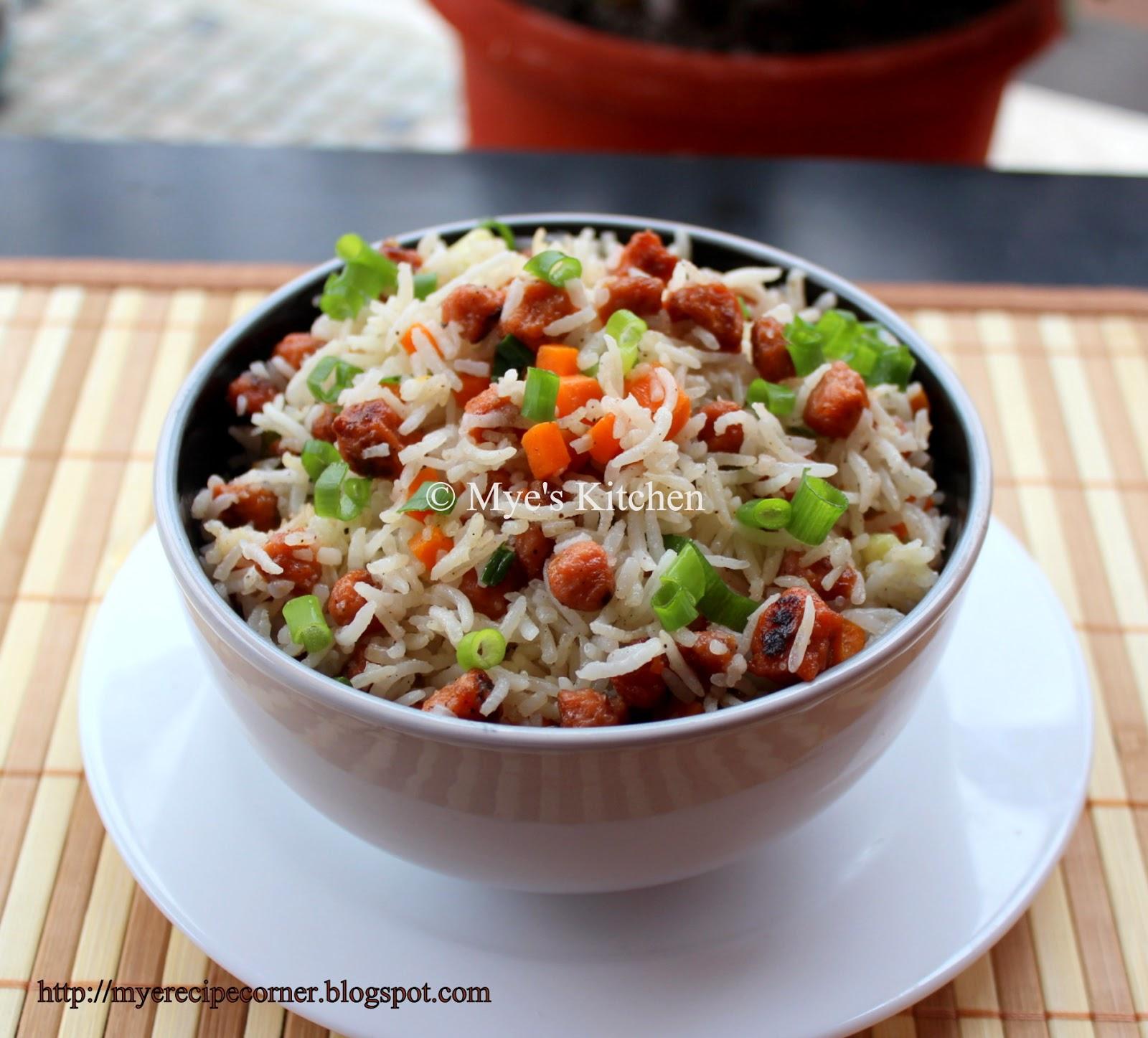 Myes kitchen soya chunks fried rice meal maker recipes soya chunks fried rice meal maker recipes forumfinder Choice Image