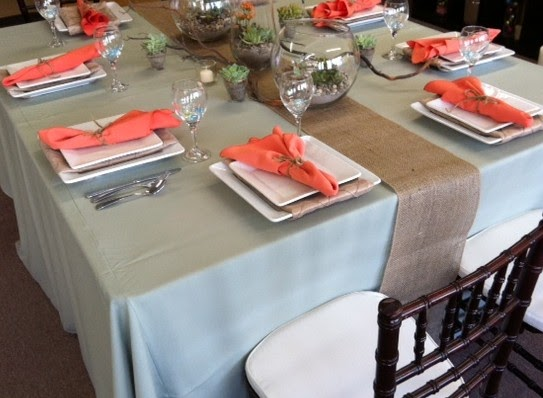 Party Productions Burlap On Your Table