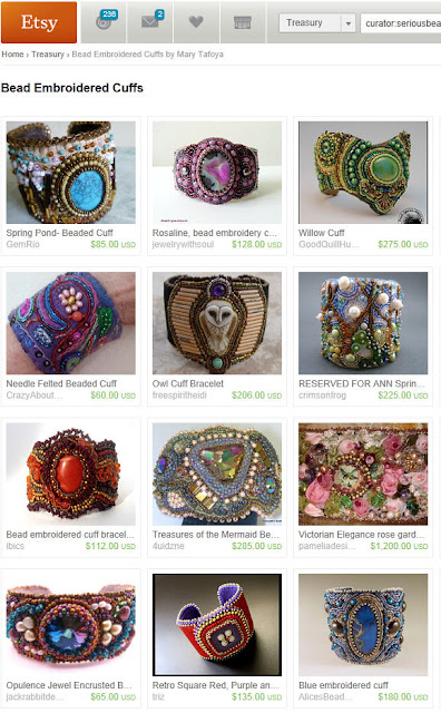 bead embroidered cuff bracelets on Etsy