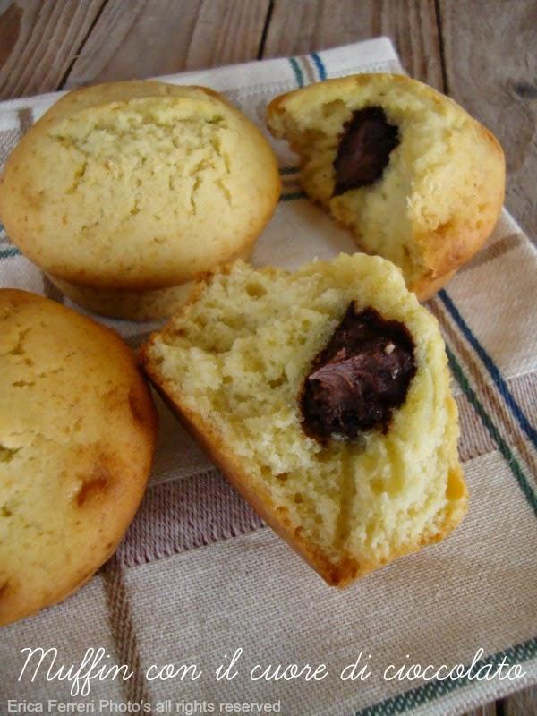 Ricetta Muffin con cuore di cioccolato