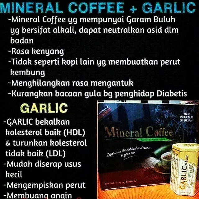 MINERAL COFFEE vs GARLIC TABLET