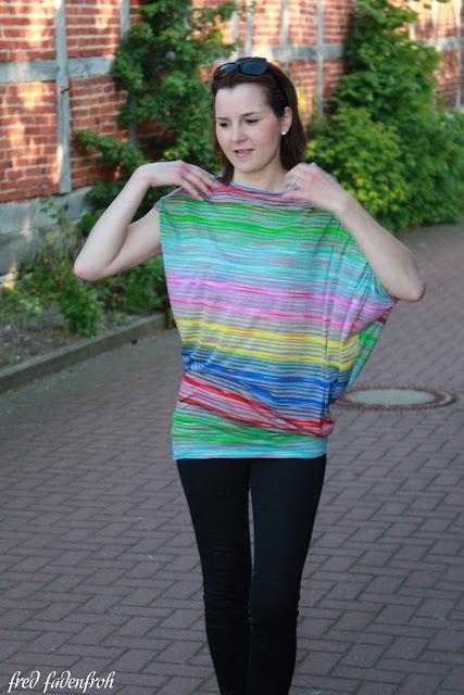 Linkparty Streifen Streifenliebe Fledermausshirt print4kids