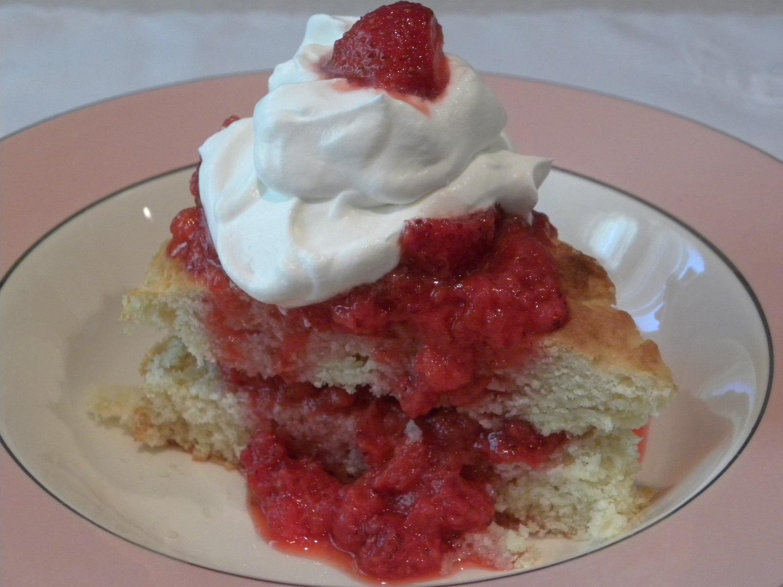 ... Connecting with Family and Friends: Old-Fashioned Strawberry Shortcake