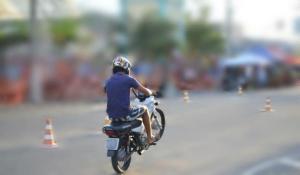 Treinamento de gincana motociclista tem tiro e motos apreendidas em Ouro Branco