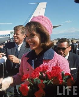 JFK and Jackie arriving at Dallas, TX