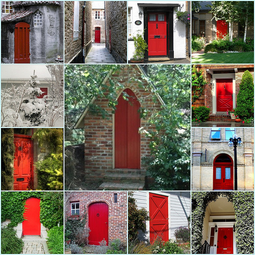 Do You Suppose A Red Door Would Look Christmas Y With Our Green? I Like The  Red Door Idea So Much, ...