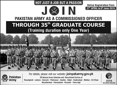 Jobs in Pak Army for Commissioned Officer Pakistan