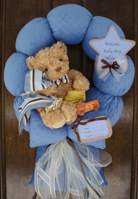 86.Custom Transportation Baby wreath