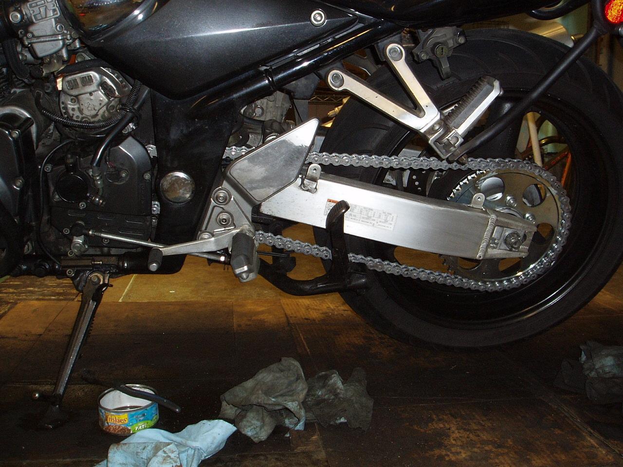 How To Tighten Chain On Suzuki Katana