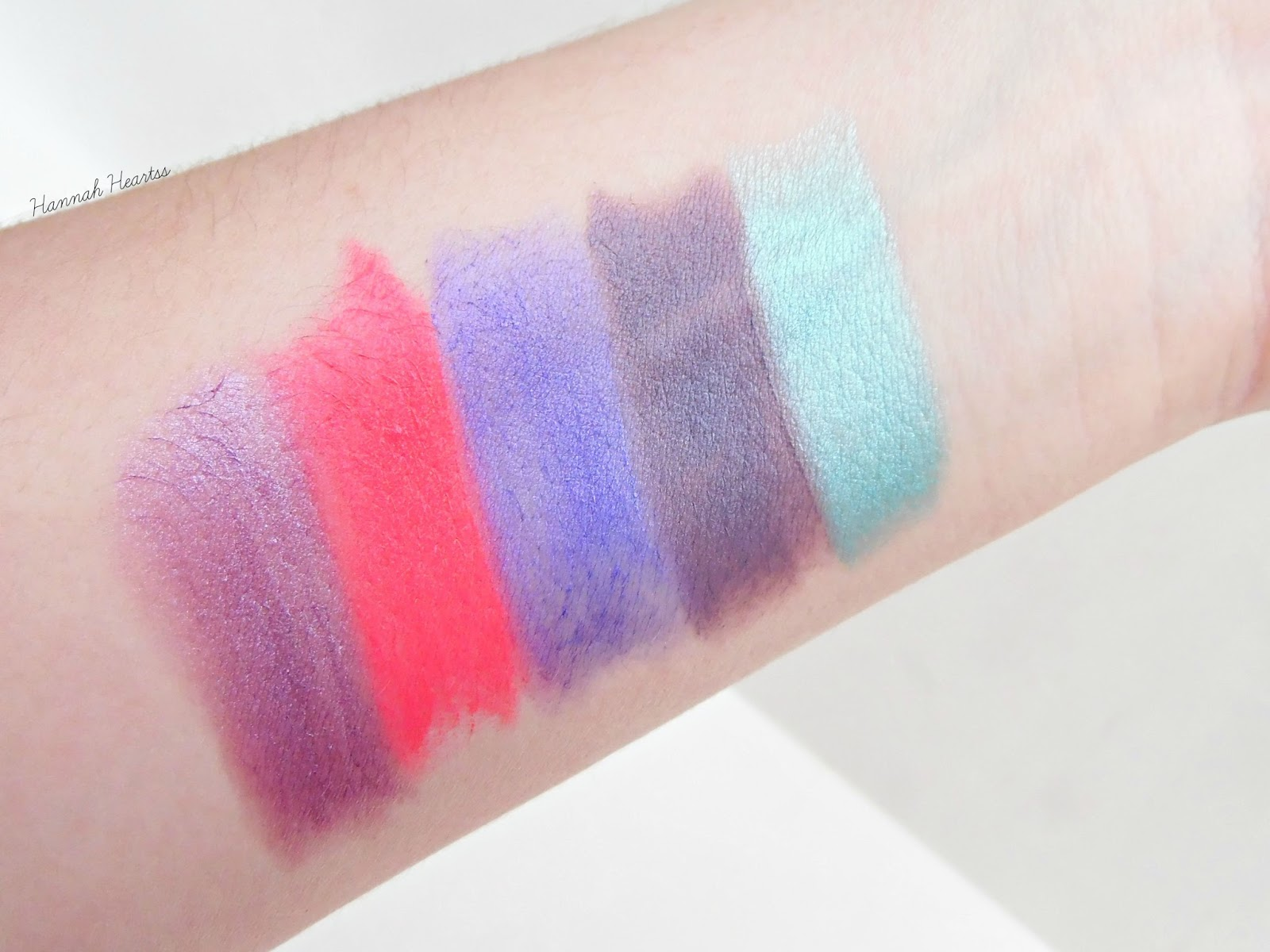 Makeup Revolution Unicorns Unite Lipstick Collection Swatches