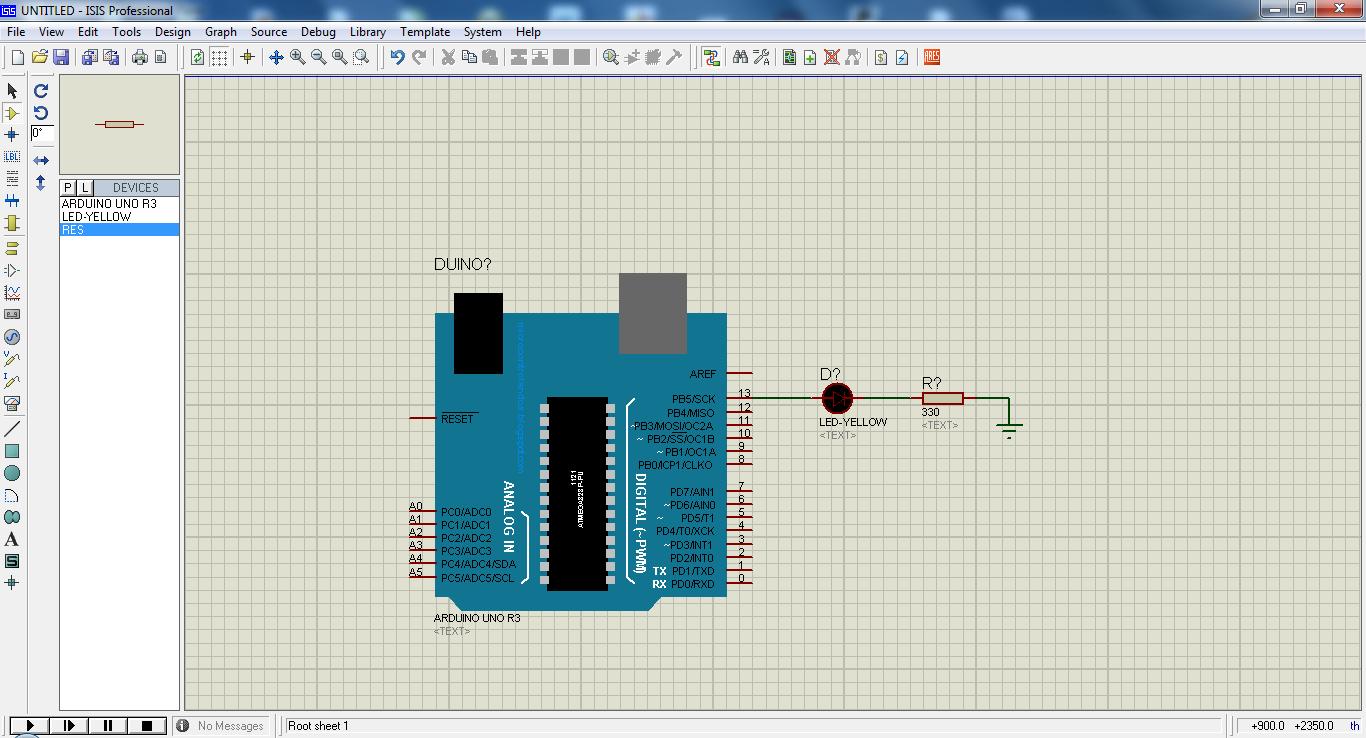 Cara mensimulasikan arduino di proteus karya inovasiku
