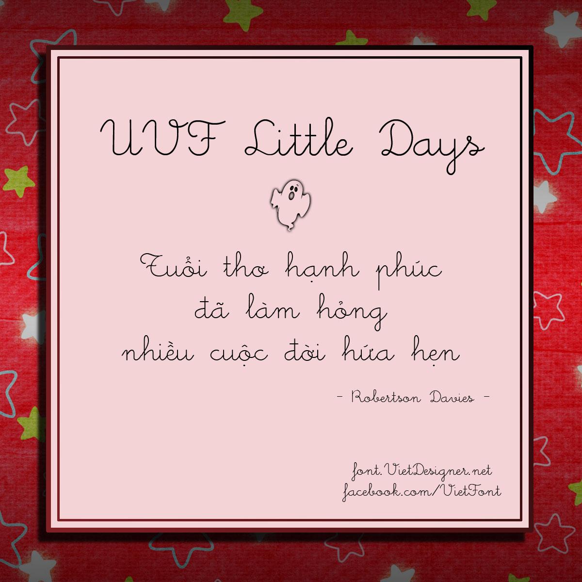 Font: UVF Little Days