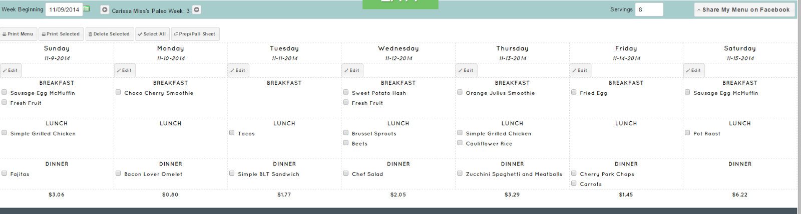 Carissa Miss: 30 Day Meal Plan with What to Eat