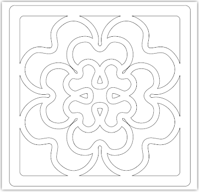 tile geranium free hand embroidery pattern