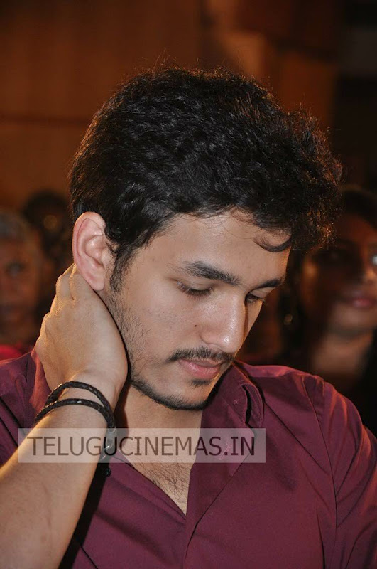 akhil akkineni stills in life is beautiful audio function