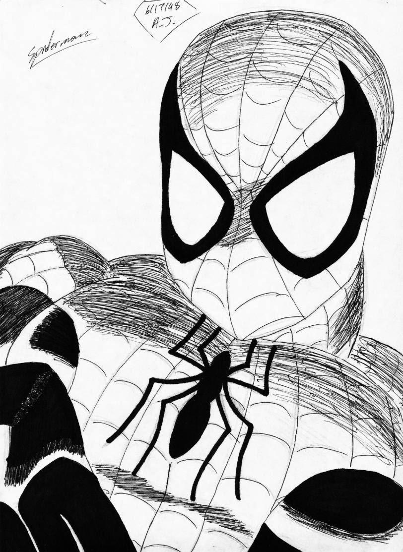 Spiderman da colorare for Disegni spiderman da colorare gratis