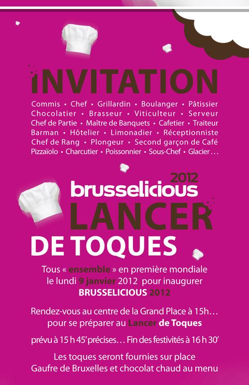 Squisitoo venez lancer votre toque l 39 inauguration de brusselicious gourmet year 2012 - Commis de cuisine bruxelles ...