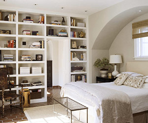 Bookcases In The Master Bedroom