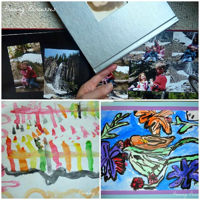 Storing kids artwork