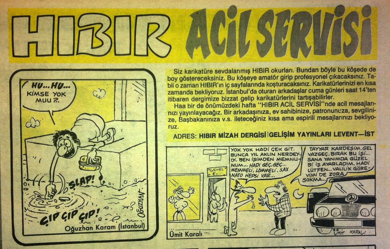 Acil Servis Karikatürleri Acil Servis'in Amatör