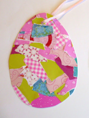 Patchwork Egg Craft, crafts, kids crafts, Easter crafts