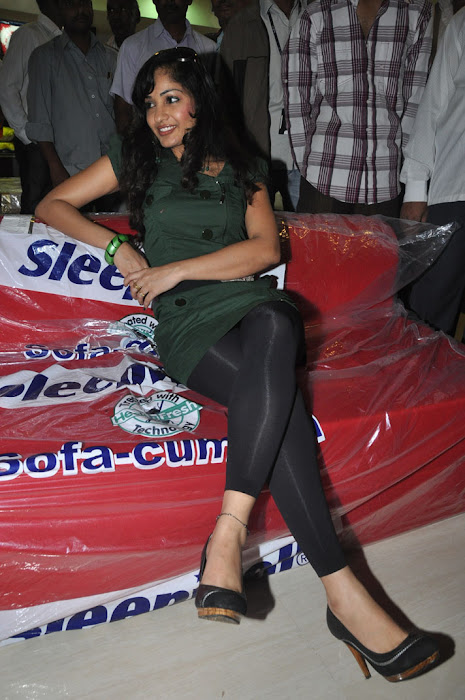 madhavi latha at sleepwell world store launch unseen pics