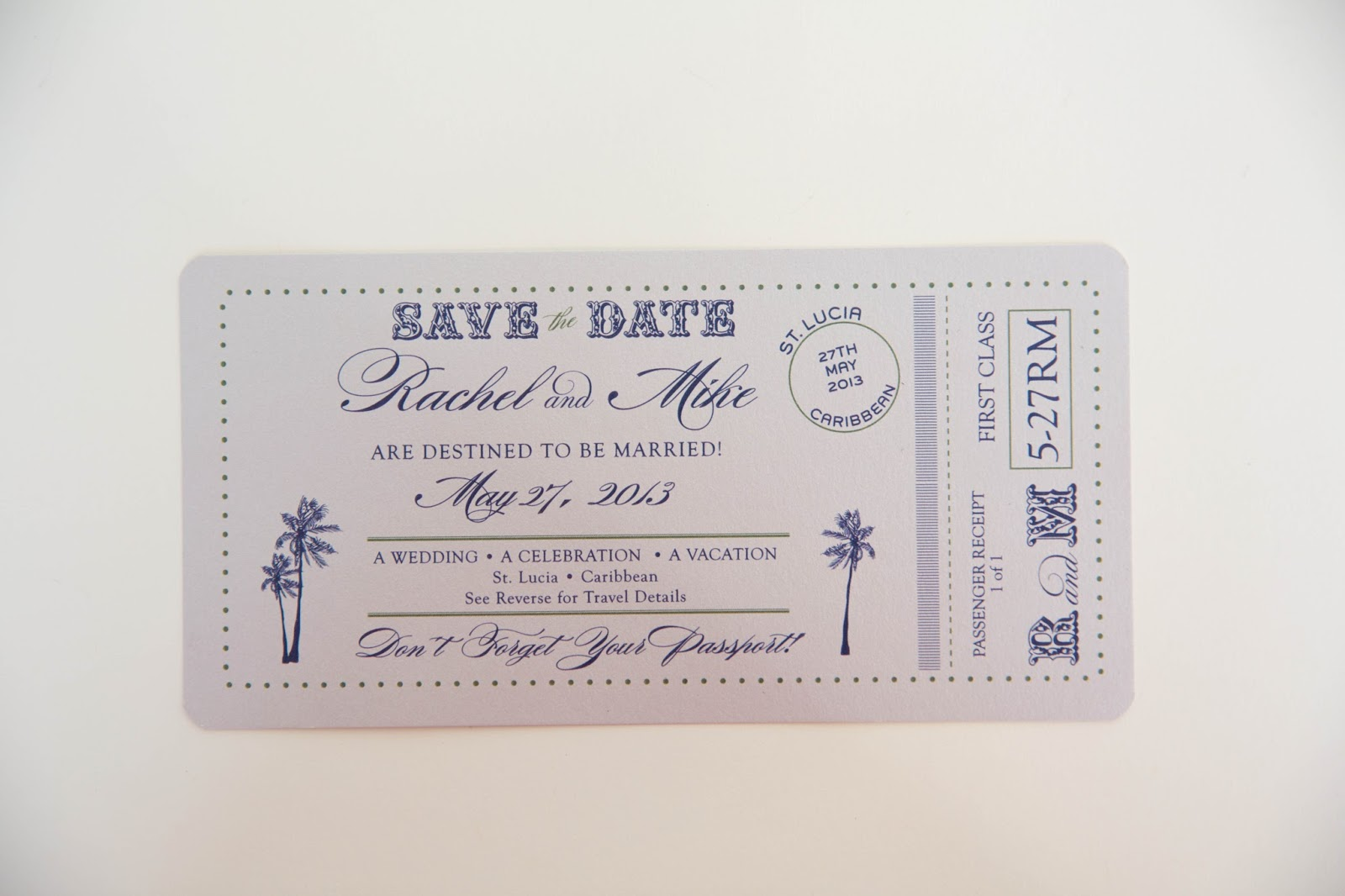 Passport Save the Date • Wedding Invitations Kindly RSVP Designs Blog