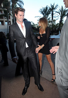 Miley Cyrus and Liam Hemsworth attend AIF awards 2012