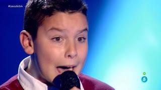 Fernando canta Vencer al amor de India Martínez. La Voz Kids 2015