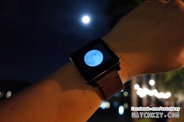Lunar Phase บน Sony SmartWatch 2 ภาษาไทย กับพระจันทร์ของจริง